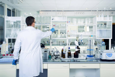 doctor working inside his laboratory